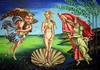 Cartoon: rebirth of Venus (small) by Sanni tagged frühling