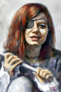 Cartoon: hail to the thief (small) by nootoon tagged pirate,girl,nootoon,germany,art,surreal,hyperreal,tocome,togo,seven,seas,contemporary