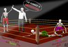 Cartoon: Pandemic fight (small) by Dadaphil tagged pandemic,aids,boxing,swineflu,birdflu,boxen,schweinegrippe,vogelgrippe,grippe