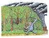 Cartoon: Hambacher Forst (small) by mandzel tagged rwe,braunkohle,waldrodung,kohlendioxyd,umweltsünde
