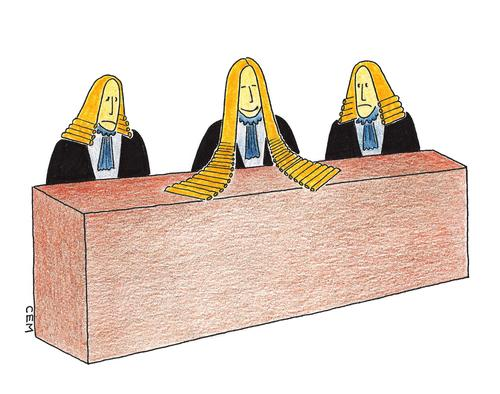 Cartoon: court (medium) by cemkoc tagged justice,koc,cem,karikatürleri,hukuk,cartoons,law