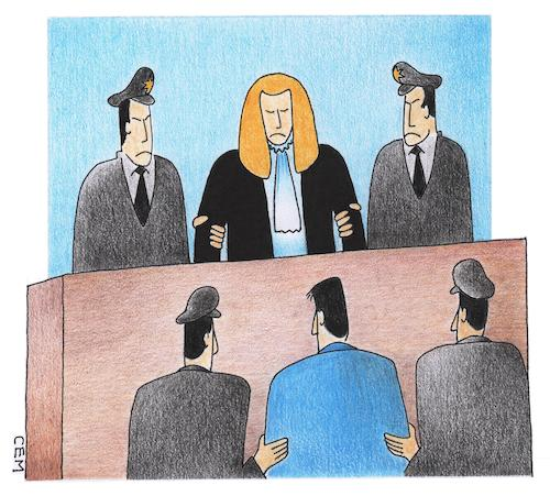 Cartoon: guilty (medium) by cemkoc tagged guilty,judge,court,judgement,law,defendant