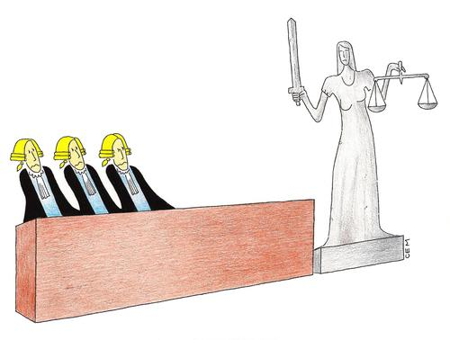Cartoon: Themis and Court (medium) by cemkoc tagged law,justice,judge,court,judgement,tribunal,supreme,lex,jurisdiction,legal,cartoons,gesetz,richter,adalet,hukuk,hakim,mahkeme,karikatürleri