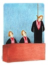 Cartoon: punishment (small) by cemkoc tagged punishment,cem,koc,judge,judgment,trial,court,mahkeme,hakim,hukuk,avukat,yarg,yarglama
