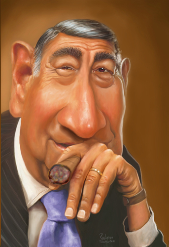 Cartoon: Howard Cosell (medium) by rocksaw tagged cosell