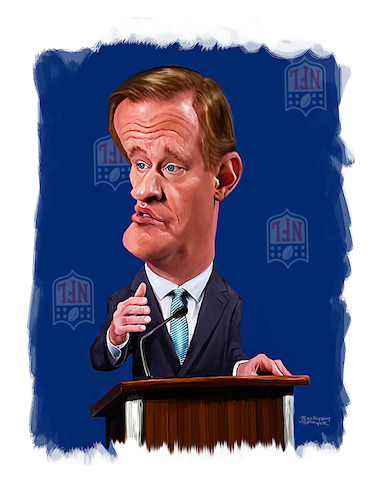 Cartoon: Roger Stokoe Goodell (medium) by rocksaw tagged roger,stokoe,goodell