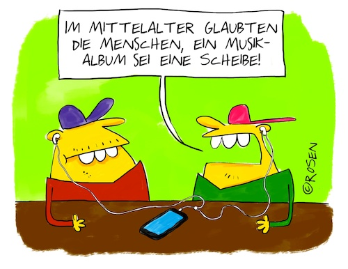 Cartoon: Mittelalter (medium) by Holga Rosen tagged musik,mittelalter,mp3,downloaden,digital,album,scheibe,langspielplatte,lp,musik,mittelalter,mp3,downloaden,digital,album,scheibe,langspielplatte,lp