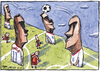Cartoon: Espana 0 Chile 2 (small) by Tchavdar tagged easter,island,chile,espana,worldcup,football,rapa,nui