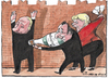 Cartoon: moscow peace talks (small) by Tchavdar tagged moscow,putin,merkel,hollande,russia,ukraine,peace,talks