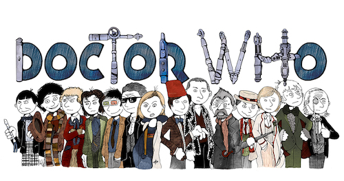 Cartoon: Doctor Who 2019 (medium) by gothink tagged doctor,who,sci,fi,tv