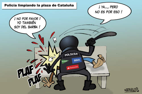 Cartoon: Spanish revolution (medium) by cosmicomix tagged spanish,revolution,policia,democracia,real,ya