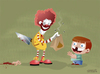 Cartoon: Happy meal (small) by cosmicomix tagged happy meal mc donald ronald sadist evil clown junk food