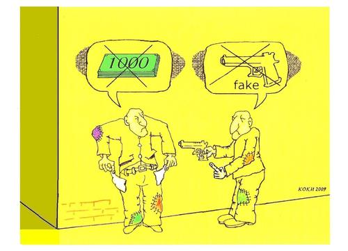 Cartoon: Krizis - fake (medium) by Kostadin tagged naskov,kostadin