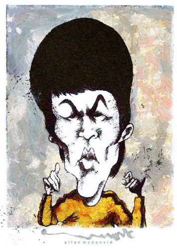Cartoon: BRUCE LEE (medium) by allan mcdonald tagged artes,marciales