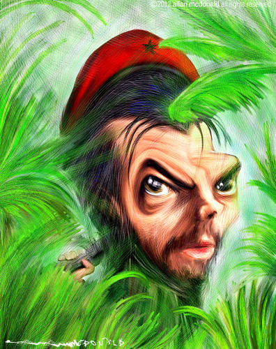 Cartoon: CHE GUEVARA (medium) by allan mcdonald tagged che