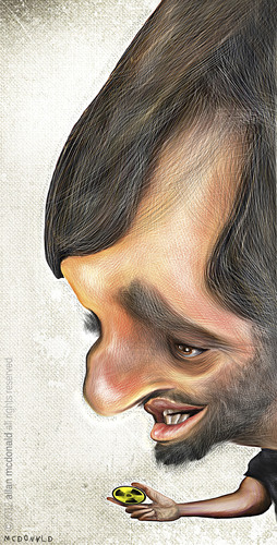 Cartoon: Mahmoud Ahmadinejad (medium) by allan mcdonald tagged iran