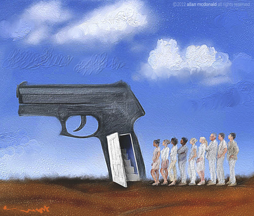 Cartoon: todos somos asesinos (medium) by allan mcdonald tagged violencia