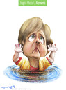 Cartoon: angela merkel (small) by allan mcdonald tagged alemania