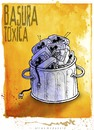 Cartoon: BASURA TOXICA (small) by allan mcdonald tagged television