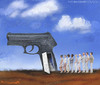 Cartoon: todos somos asesinos (small) by allan mcdonald tagged violencia