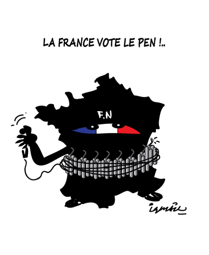 Cartoon: FRANCE ELECTIONS ! (medium) by ismail dogan tagged france,elections,2015
