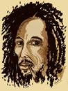 Cartoon: BOB MARLEY (small) by ismail dogan tagged bob,marley