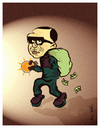 Cartoon: thieves !..aux voleurs ! (small) by ismail dogan tagged turkey