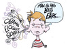 Cartoon: a talk to the kids (small) by barbeefish tagged obama