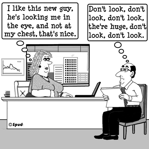 Cartoon: Dont Look (medium) by cartoonsbyspud tagged cartoon,spud,hr,recruitment,office,life,outsourced,marketing,it,finance,business,paul,taylor