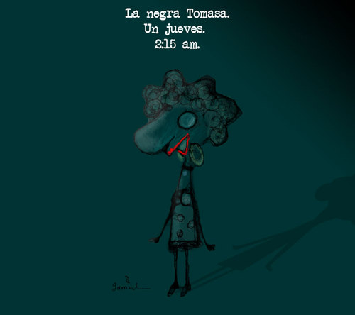 Cartoon: La negra Tomasa (medium) by Garrincha tagged illustration,popular,songs