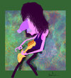 Cartoon: Jeff Beck (small) by Garrincha tagged music,rock,artist,guitar