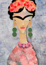 Cartoon: Msiss Kahlo (small) by Garrincha tagged caricatures
