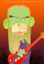 Cartoon: Steve Howe (small) by Garrincha tagged music,musicians