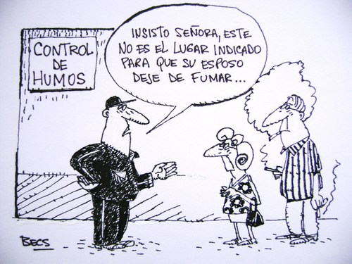 Cartoon: Fumando espero (medium) by el Becs tagged becs