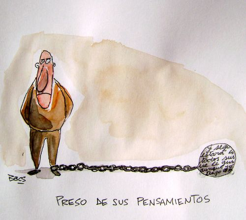 Cartoon: Pensar (medium) by el Becs tagged ideas