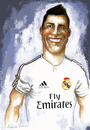 Cartoon: Cristiano Ronaldo (small) by lagrancosaverde tagged cristiano,ronaldo,real,madrid,fussball