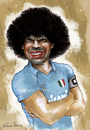 Cartoon: MARADONA (small) by lagrancosaverde tagged maradona,napoli,argentina,caricature,caricatura