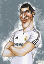 Cartoon: RAUL (small) by lagrancosaverde tagged raul,real,madrid,schalke,espana,caricature,caricatura,karikaturen