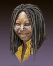 Cartoon: Whoopi Goldberg (small) by Sigrid Töpfer tagged berühmte,personen