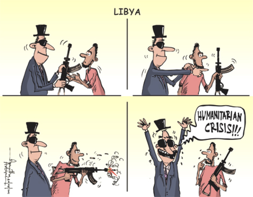 Cartoon: Libya (medium) by awantha tagged libya