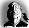 Cartoon: Alfred Hitchcock (small) by awantha tagged alfred hitchcock