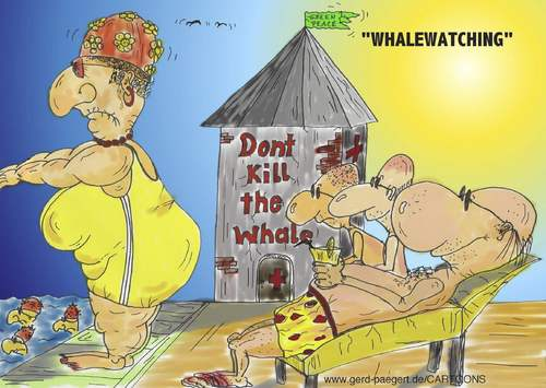 Cartoon: Whalewatching (medium) by boogieplayer tagged natur