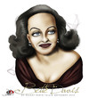 Cartoon: Bette Davis (small) by saadet demir yalcin tagged saadet,sdy,bettedavis
