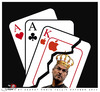 Cartoon: The most difficult game (small) by saadet demir yalcin tagged saadet,sdy,stevejobs,apple,game,playingcard
