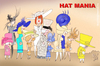 Cartoon: KATE AND WILLIAM AND HAT MANIA (small) by T-BOY tagged hat,mania