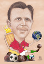 Cartoon: PUSKAS The KING (small) by T-BOY tagged puskas,the,king