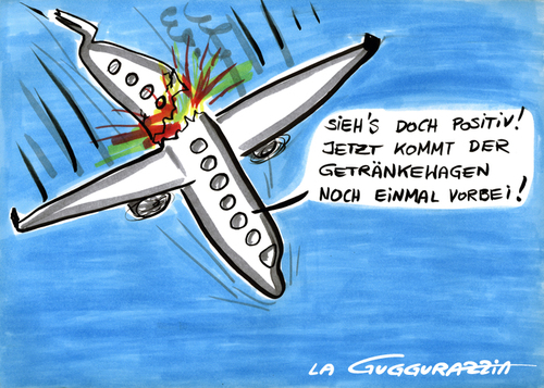 Cartoon: Plane crash (medium) by LA RAZZIA tagged flugzeug,aeroplane,flugzeugabsturz