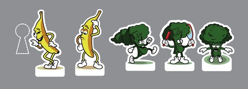 Cartoon: sticker (medium) by Braga76 tagged vegetable,fruit,stcker