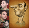 Cartoon: Carlos (small) by K E M O tagged carlos,by,kemo,caricature,draw,me,art