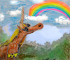 Cartoon: magic world (small) by wheelman tagged unicorn,rainbow,sunglasses,blindness
